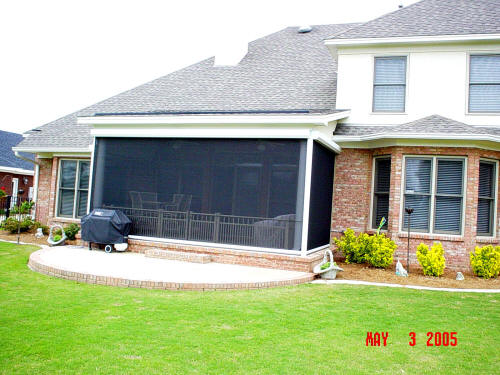 Retractable Screens Down For Instant Screened Porch.